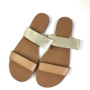 J.Crew Factory Slip On Leather Sandals #982